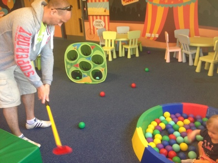 Something for everyone in soft play (even Paul)